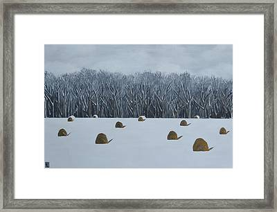The Lazy Farmers' Field Framed Print by Holly Donohoe
