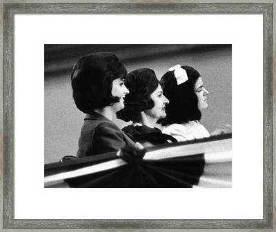 The Lbj Ladies At The 1964 National Framed Print by Everett