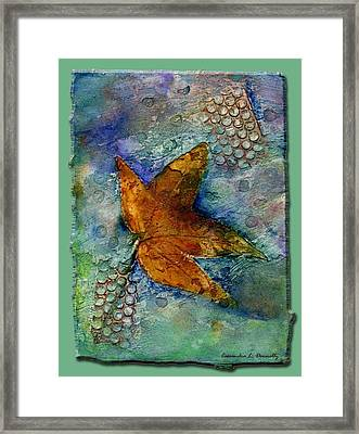 The Leaf That Does Not Wither. Framed Print by Cassandra Donnelly