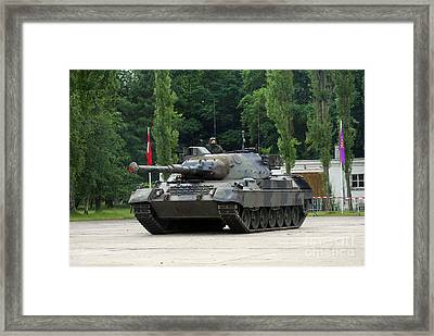 The Leopard 1a5 Mbt Of The Belgian Army Framed Print by Luc De Jaeger