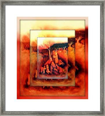 The Letter 2 Framed Print by Joan Kamaru