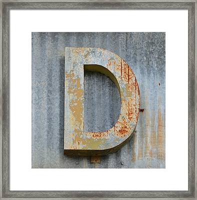 The Letter D Framed Print by Nikki Marie Smith