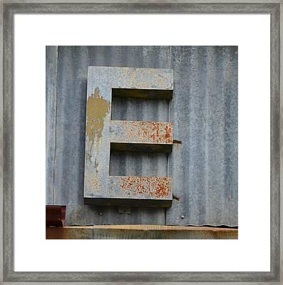 The Letter E Framed Print by Nikki Marie Smith