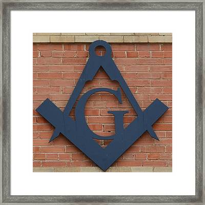 The Letter G Framed Print