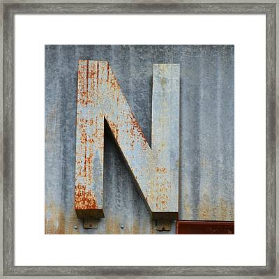The Letter N Framed Print by Nikki Marie Smith