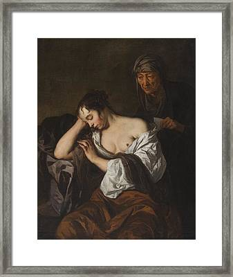 The Letter Framed Print by Sir Peter Lely