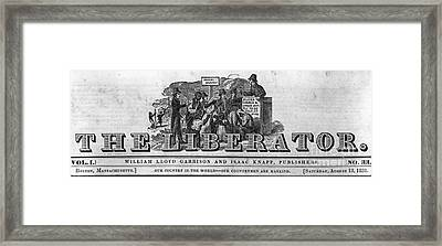 The Liberator Masthead Framed Print by Photo Researchers
