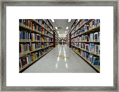 The Library Framed Print by Ku Azhar Ku Saud