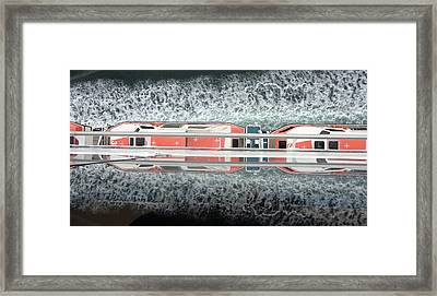 The Life Boats Framed Print by Mindy Newman