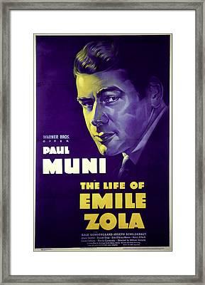 The Life Of Emile Zola, Paul Muni, 1937 Framed Print