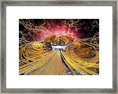 The Light At The End Of The Tunnel Framed Print by Michael Durst