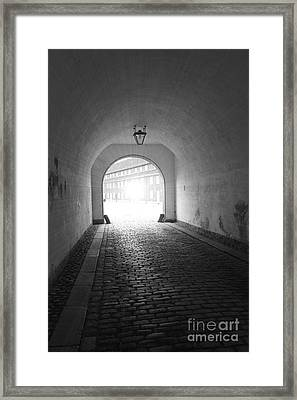 The Light At The End Of The Tunnel Framed Print by Sophie Vigneault