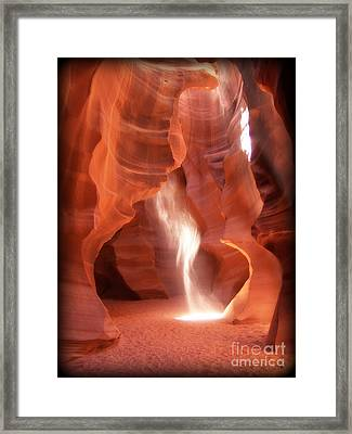 Framed Print featuring the photograph The Light Beam by Jim McCain