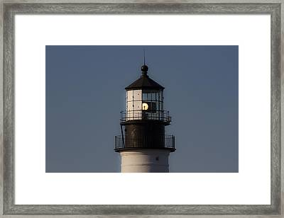 The Light House Framed Print by Robert Clifford