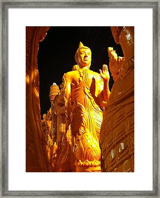 The Light In Darkness Framed Print by Din Pasutar