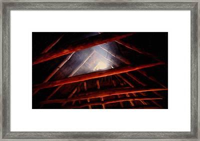 The Light Of God Framed Print by Steven Richardson