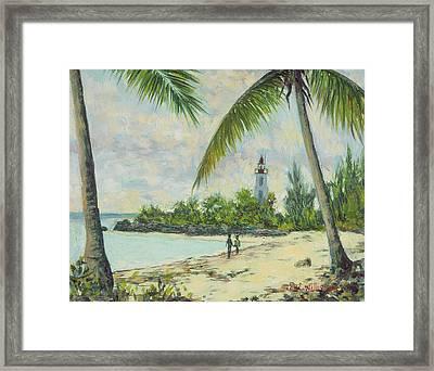 The Lighthouse - Zanzibar Framed Print by Tilly Willis