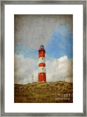 The Lighthouse Amrum Framed Print by Angela Doelling AD DESIGN Photo and PhotoArt