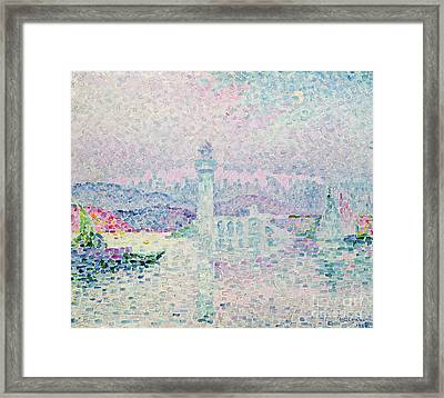 The Lighthouse At Antibes Framed Print by Paul Signac