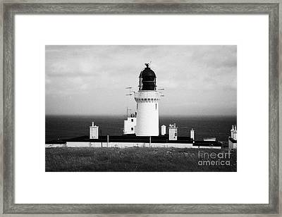 The Lighthouse At Dunnet Head Most Northerly Point Of Mainland Britain Scotland Framed Print by Joe Fox