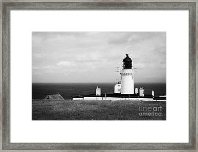 The Lighthouse At Dunnet Head Most Northerly Point Of Mainland Britain Scotland Uk Framed Print by Joe Fox