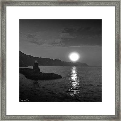 The Lighthouse Framed Print by Gianluca Sommella
