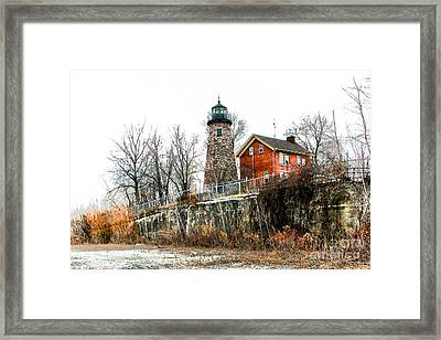 The Lighthouse Framed Print by Ken Marsh