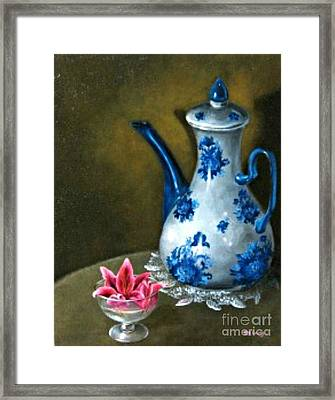The Lily And The Coffe Pot Framed Print