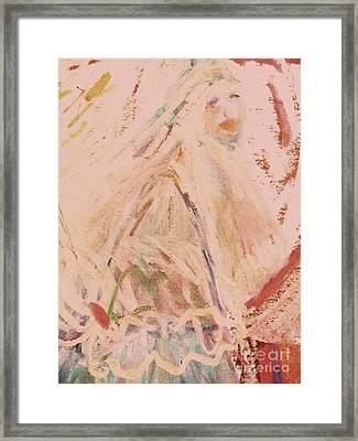 The Lily Who Waits Framed Print by Deborah Montana