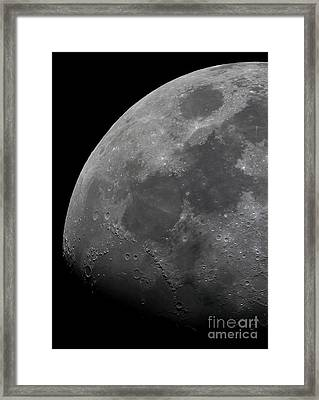 The Limb And Terminator Of The Waxing Framed Print