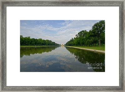 Framed Print featuring the photograph The Lincoln Memorial And Reflecting Pool by Jim Moore