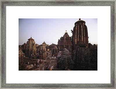 The Lingaraja Temple In Bhubaneshwar Framed Print by James P. Blair