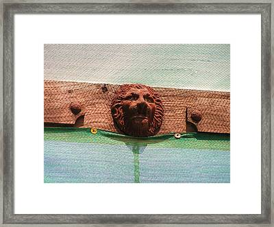 Framed Print featuring the photograph The Lion Of Penasco by Rand Swift