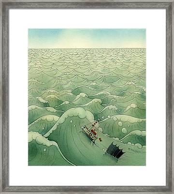 The Little Boat 02 Framed Print by Kestutis Kasparavicius