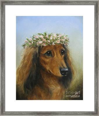The Little Flower Girl Framed Print by Stella Violano
