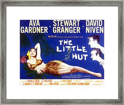 The Little Hut, Ava Gardner, Stewart Framed Print by Everett