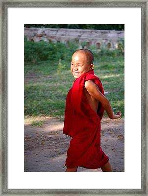 The Little Monk Of Mingun Framed Print by RicardMN Photography