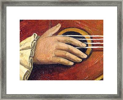 The Little Mozart.detail I. Framed Print by Victoria Francisco