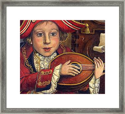 The Little Mozart.detail. Framed Print by Victoria Francisco