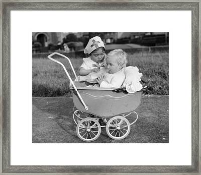 The Little Nurse Framed Print by C Donnelly
