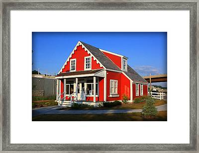 The Little Red Store Framed Print