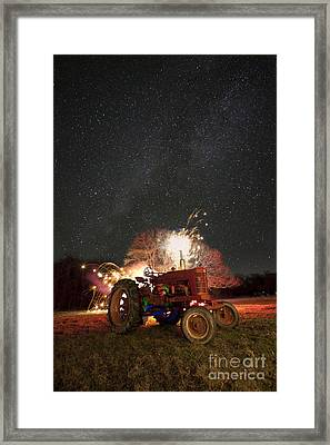The Little Red Tractor That Could Framed Print