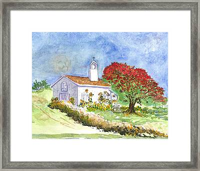 The Little White Church Framed Print