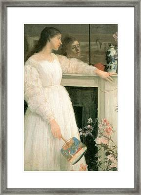 The Little White Girl Framed Print by James Abbott McNeill Whistler
