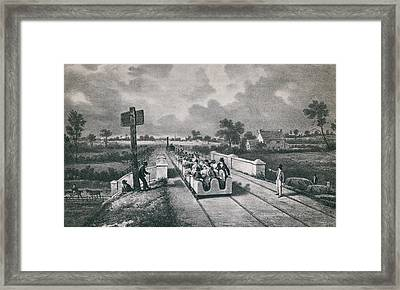 The Liverpool Manchester Railway Framed Print by Everett