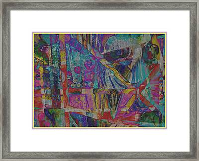 The Living Is Easy Framed Print by Mindy Newman