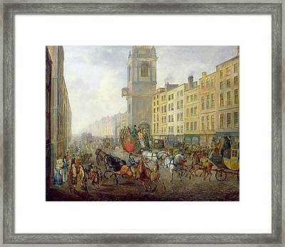 The London Bridge Coach At Cheapside Framed Print by William de Long Turner