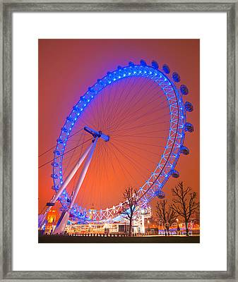 Framed Print featuring the photograph The London Eye by Luciano Mortula