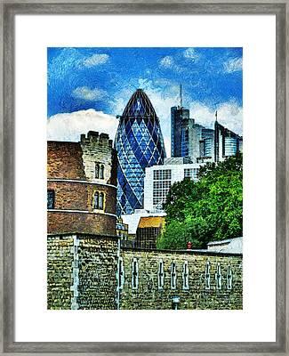 The London Gherkin  Framed Print