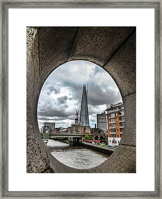 The London Shard Framed Print by Dawn OConnor